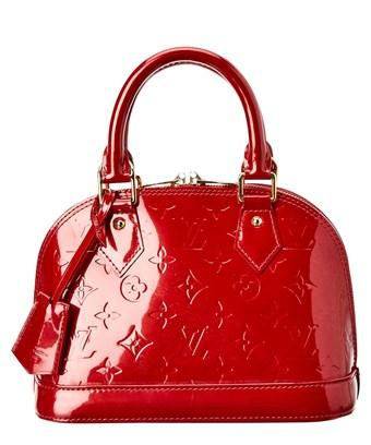 Louis Vuitton Red Monogram Vernis Leather Alma Bb In Nocolor Modesens