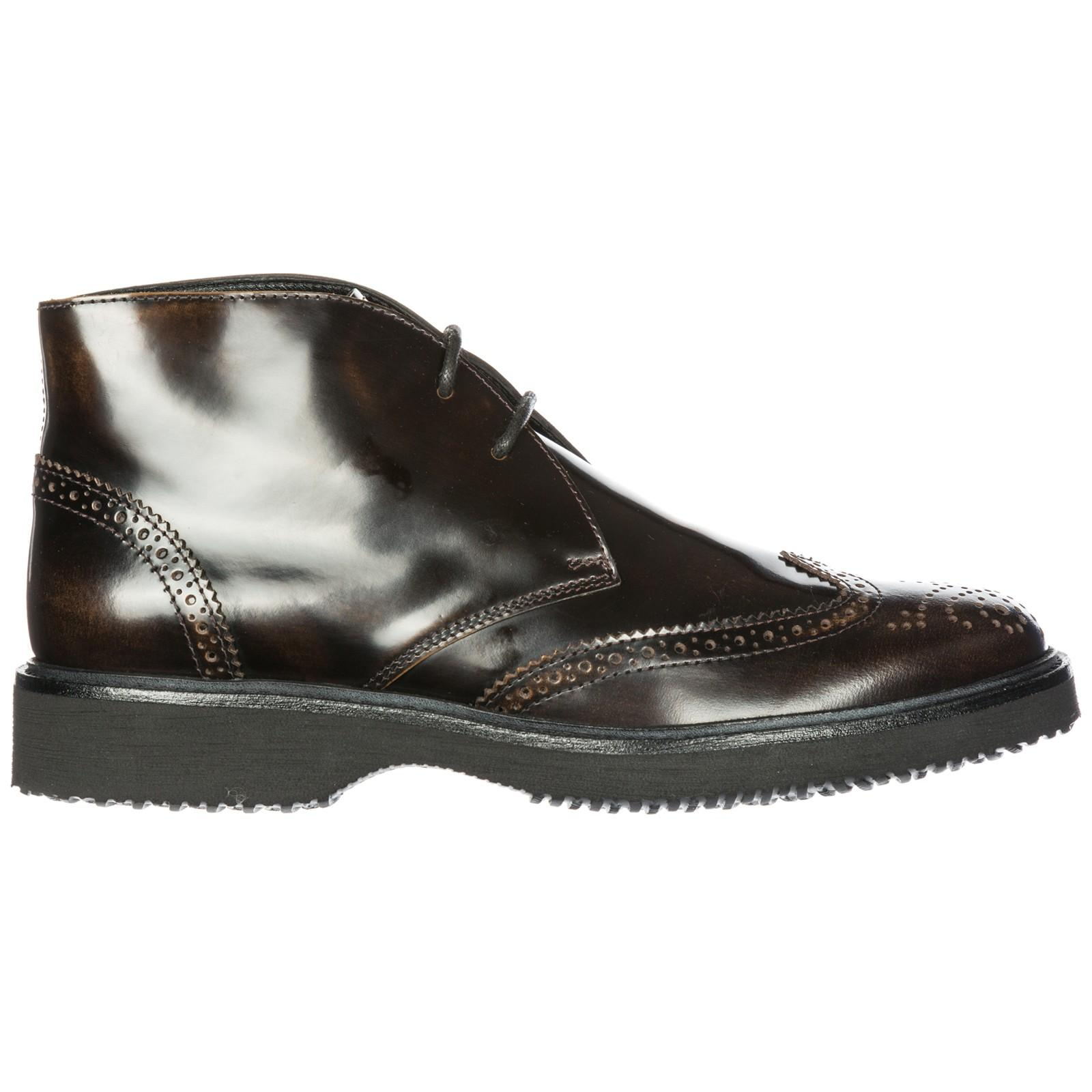 Hogan Men's Leather Desert Boots Lace Up Ankle Boots H217 Route ...