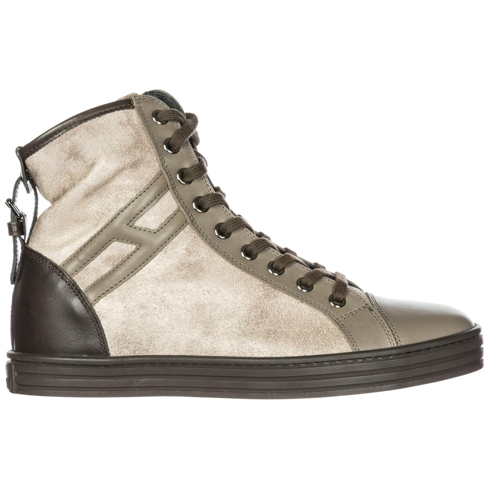 Hogan Rebel Women's Shoes High Top Suede Trainers Sneakers R182 In ...