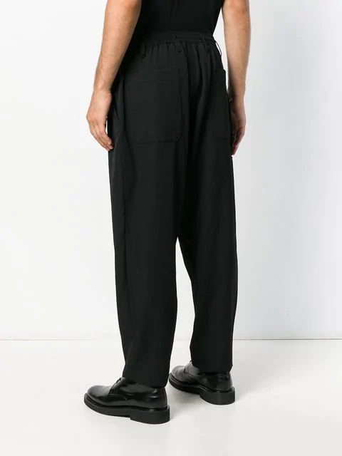 Yohji Yamamoto Drop Crotch Trousers - Black