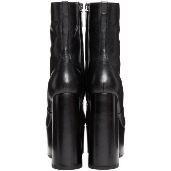cf7006759e Saint Laurent Billy Kangaroo Leather Platform Boot In 1000 Black ...
