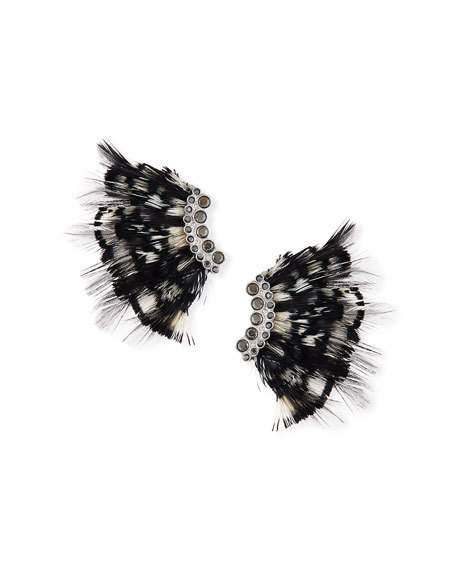 Mignonne Gavigan Lux Feather Mini Madeline Earrings In