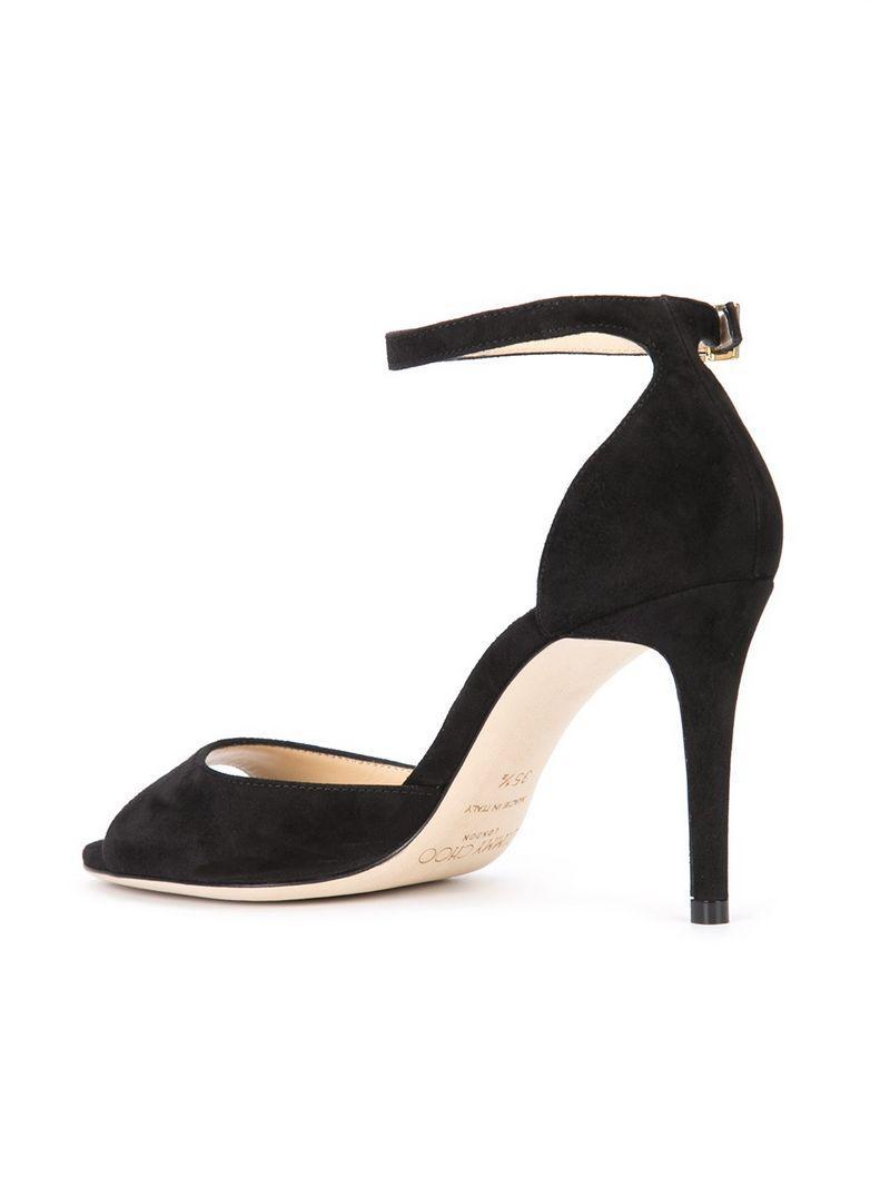 52f5b8c02bd Jimmy Choo Women s Annie 85 Suede High-Heel Ankle Strap Sandals In Black