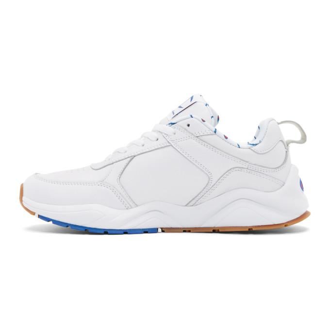 af40ad297e1a1 Champion Reverse Weave White 93Eighteen Big C Sneakers