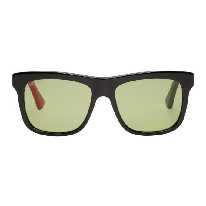 ea584398749 Gucci Black Urban Colorblocked Sunglasses In 004 Black