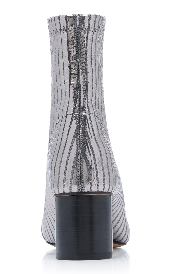59e632ad4b8 Isabel Marant Datsy Metallic Leather Ankle Boots In Silver | ModeSens