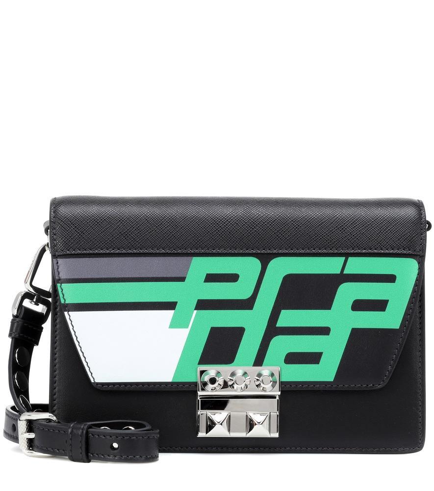 c785874e19bc Prada Elektra Leather Shoulder Bag In Black