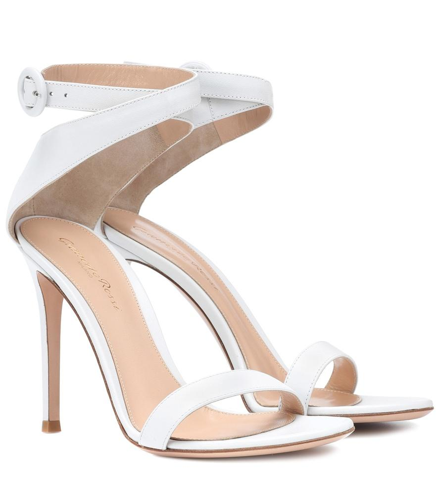 07c9f3cc2d3e Gianvito Rossi Exclusive To Mytheresa.Com - Cross Strap Leather Sandals In  White