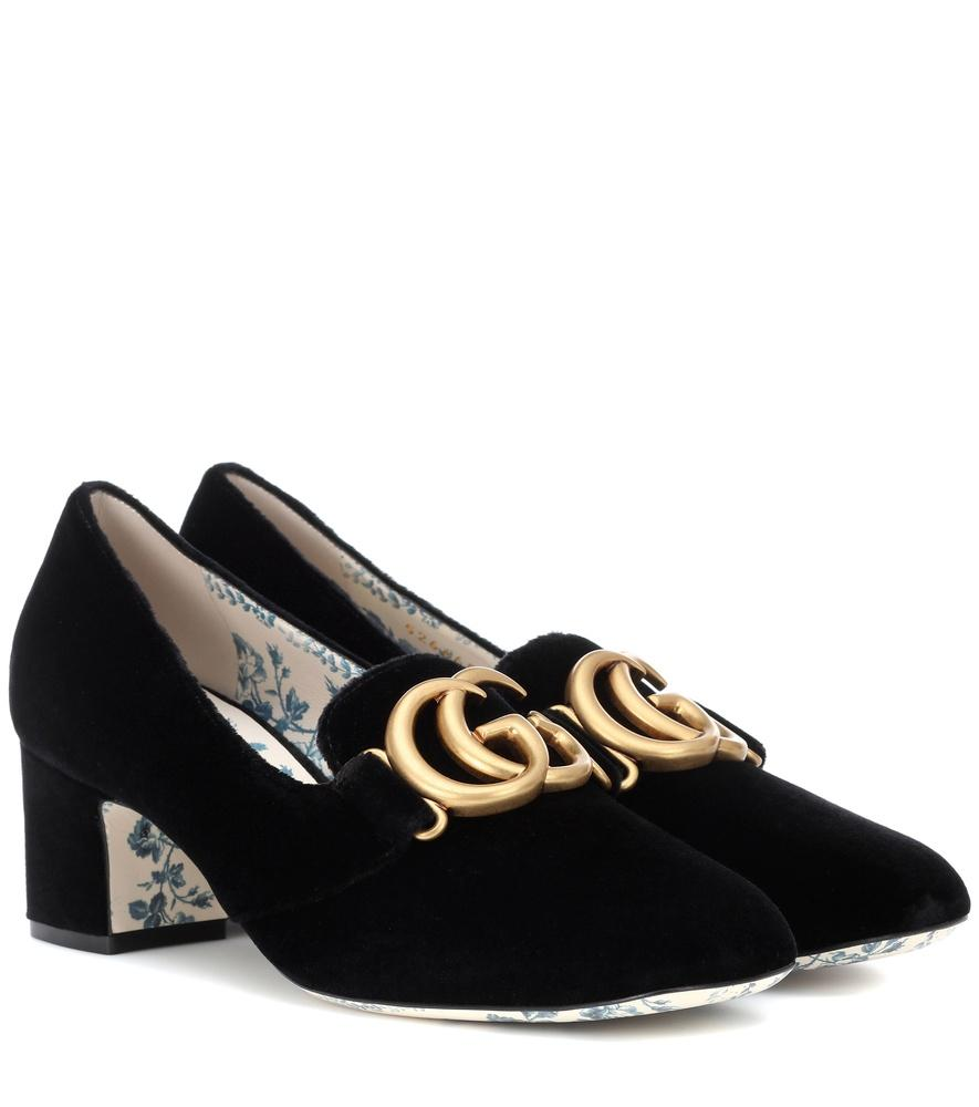 GUCCI VELVET PUMPS,P00335003