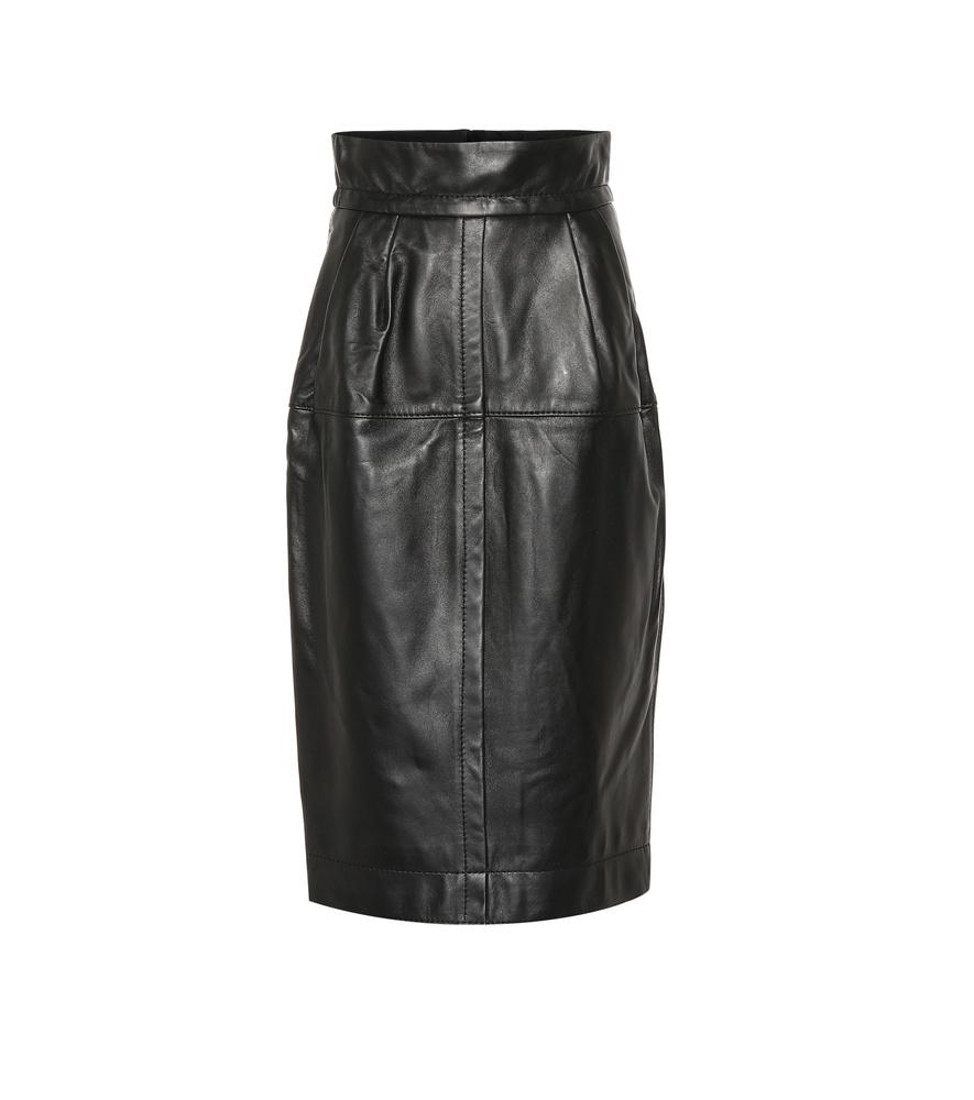 93beec299d88 High Waisted White Leather Skirt | Saddha