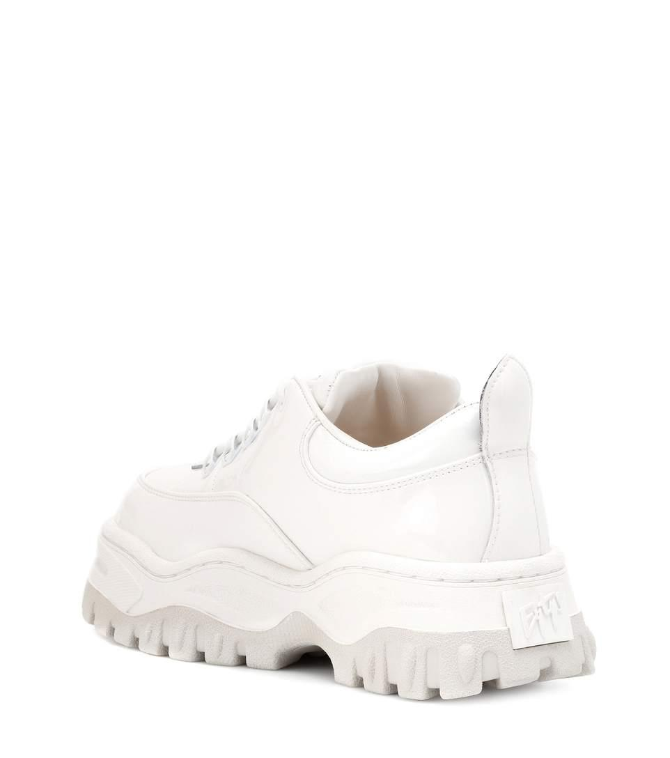 c3995a51973 Eytys Angel Glossed-Leather Platform Sneakers In White   ModeSens