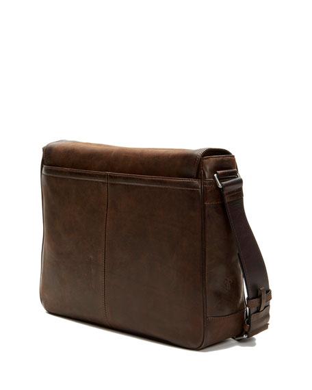 9be8a5df72a6 Oliver Men'S Leather Messenger Bag, Brown in Dark Brown