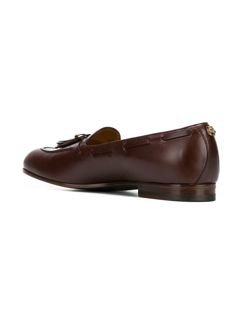 38d78e5a8c1 Gucci Loomis Leather Tasselled Loafers - Brown