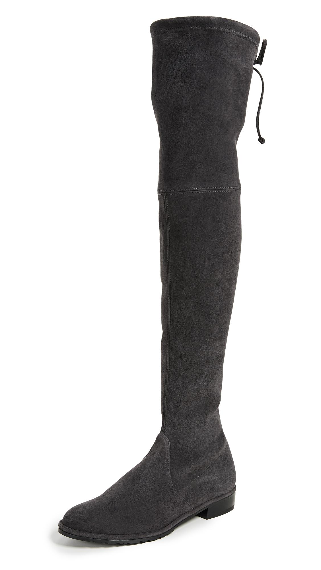 2e2148a4e42 Stuart Weitzman Lowland Over The Knee Boots In Asphalt