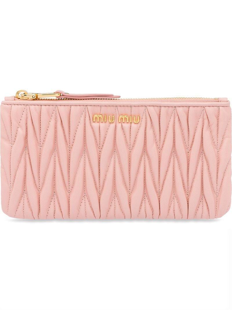 6746d3635b60 Miu Miu Matelassé Pouch - Pink