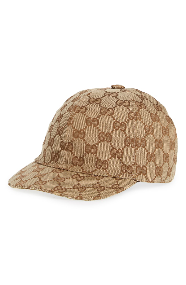 1166fa89938c16 Gucci Original Gg Canvas Baseball Hat With Web In 9791 Beige | ModeSens