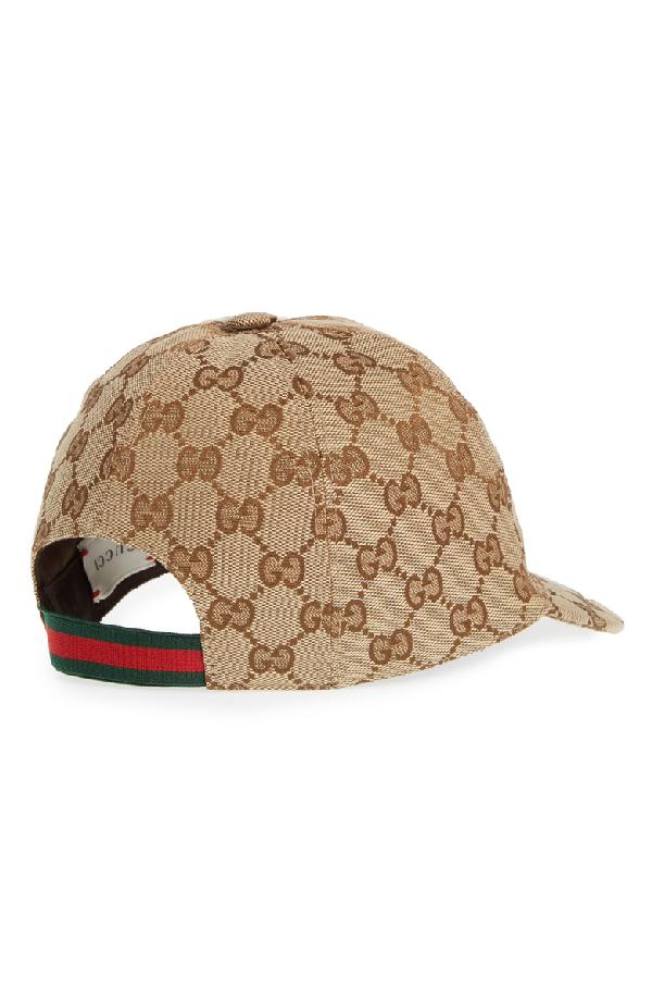 04dff73cf45bac Gucci Original Gg Canvas Baseball Hat With Web In 9791 Beige | ModeSens