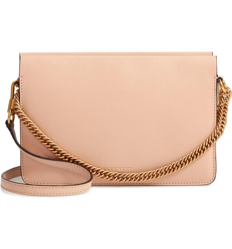 fb7c553728 Givenchy Cross 3 Leather Crossbody Bag In Nude  Lt Beige