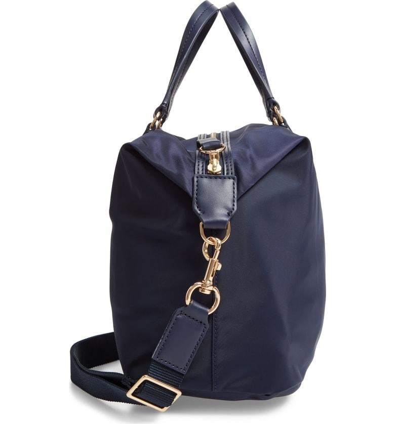 5195b5c97dd Tory Burch Tilda Slouchy Nylon Satchel - Blue In Tory Navy