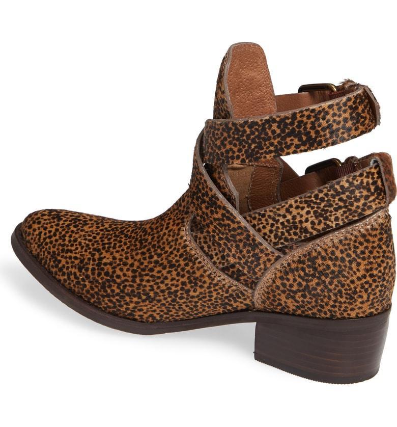 30be736bd1f5 Matisse Raider Wraparound Strappy Bootie In Leopard Calf Hair   ModeSens