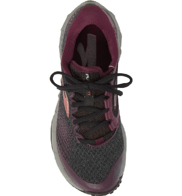 855dd1b35c471 Brooks Puregrit 7 Trail Running Shoe In Black  Purple  Grey