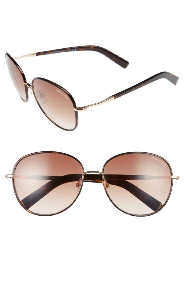 e67e789d241b Tom Ford Georgia 59Mm Sunglasses - Rose Gold  Havana  Brown