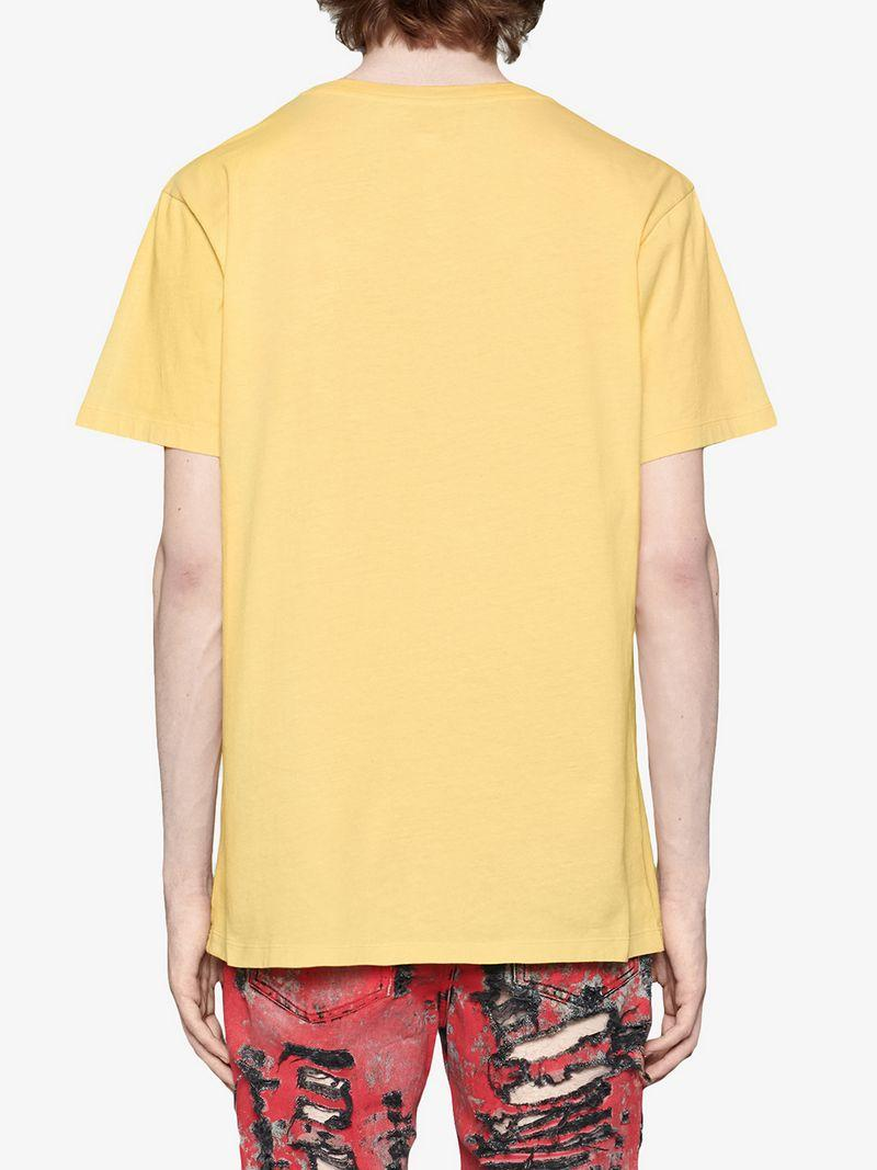 367897eda Gucci Oversize T-Shirt With Rainbow Print In Yellow | ModeSens