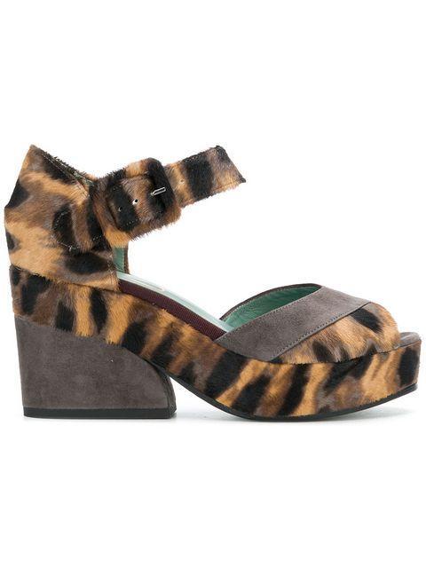 06c3b3b931 Paola D'Arcano Leopard Print Sandals - Neutrals | ModeSens
