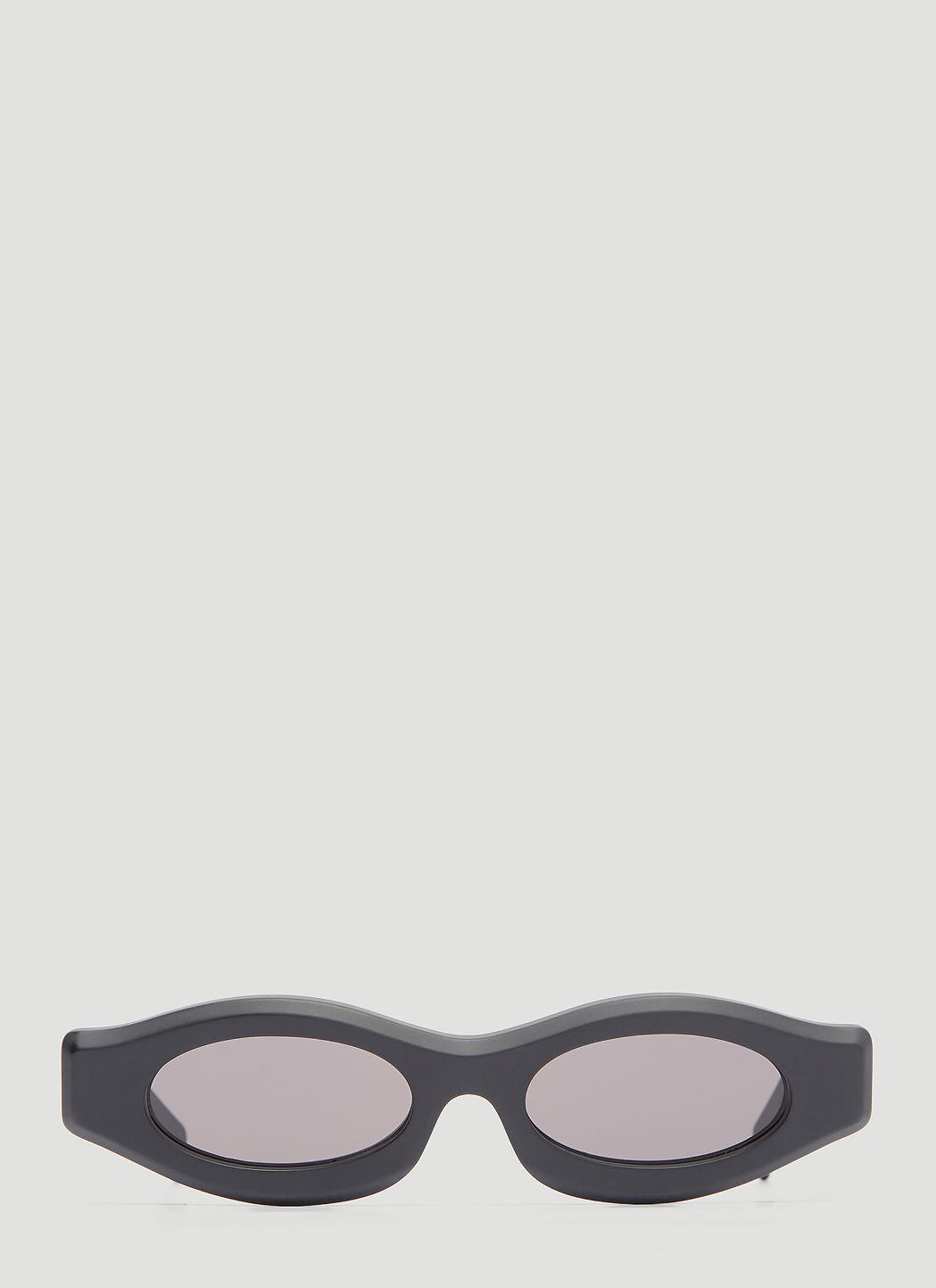 72d79b0a3882 Kuboraum Maske Y3 Slim Matt Sunglasses In Black | ModeSens