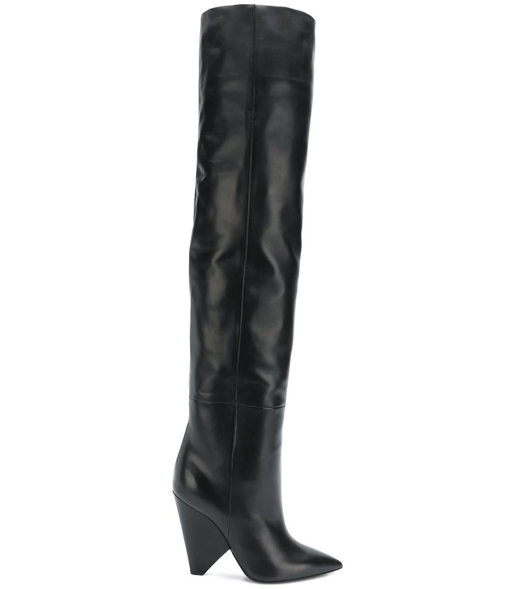 Leather Over Laurent BlackModesens The Knee Niki Boots In Saint n0wPkO