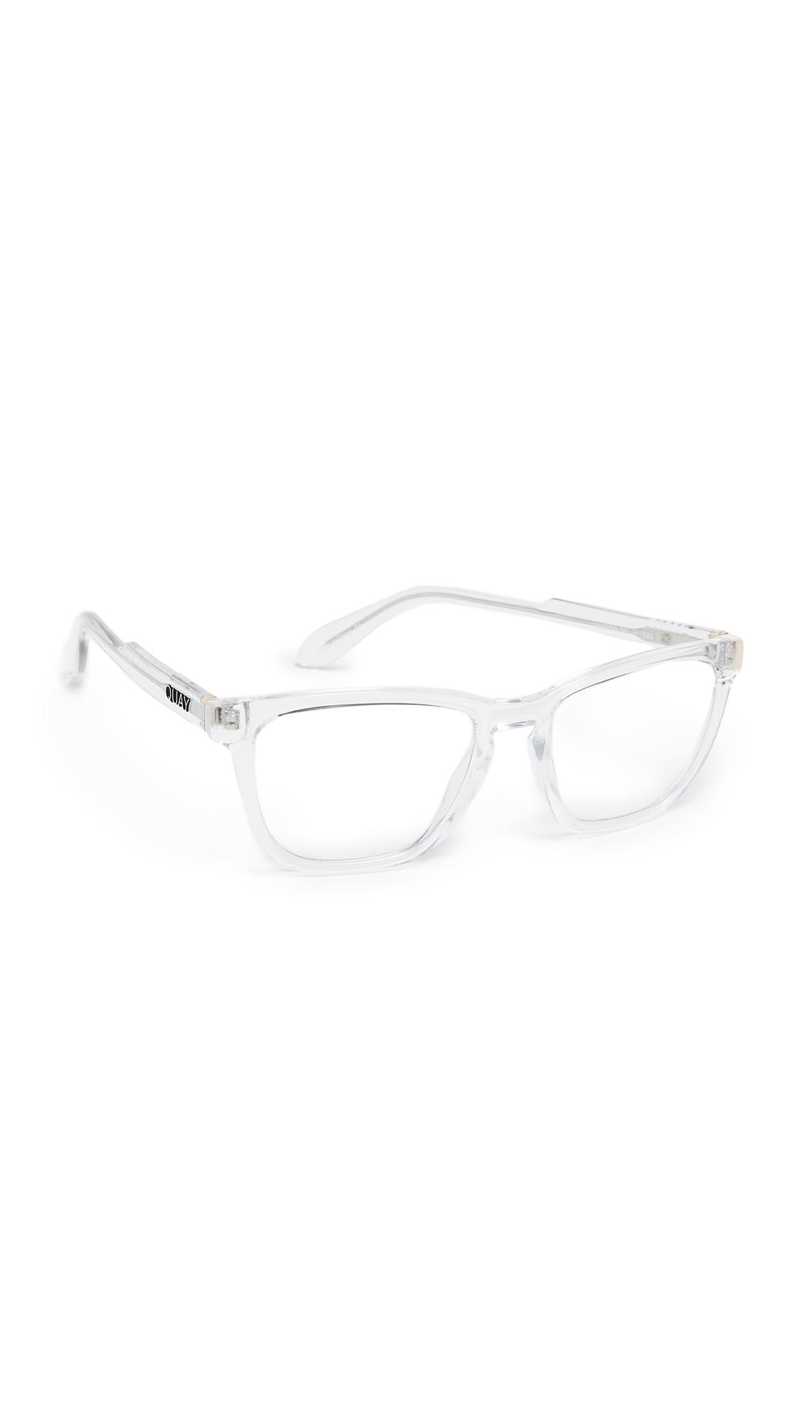 4724692121 Quay Hardwire Blue Light Blocker Glasses In Clear Clear