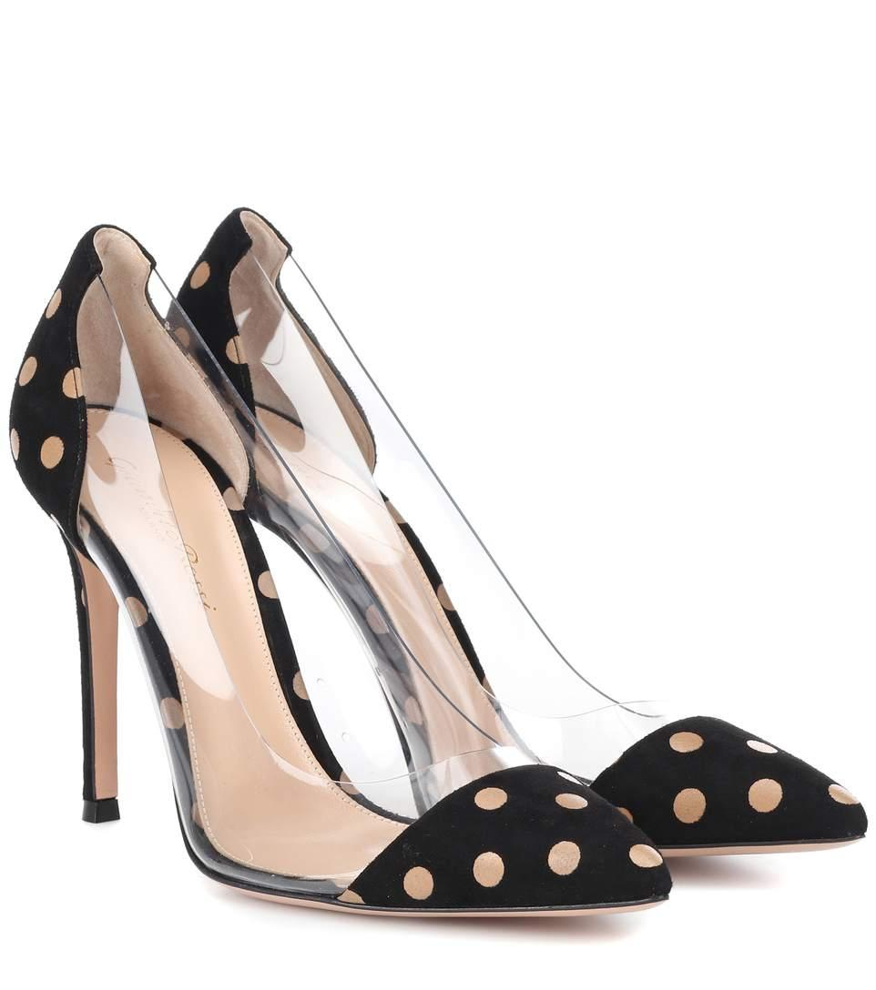 27b6b99d2d0 Gianvito Rossi Exclusive To Mytheresa - Plexi Polka-Dot Suede Pumps In Black