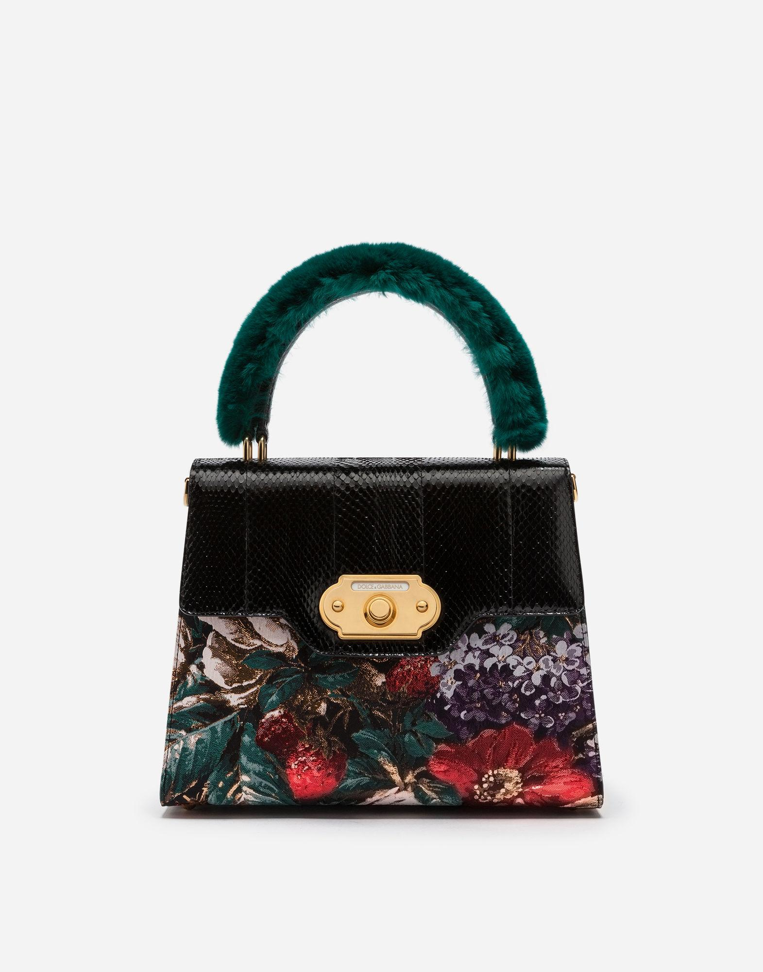 119f71886ac4 Dolce   Gabbana Welcome Handbag In A Mix Of Materials In Multicolor ...