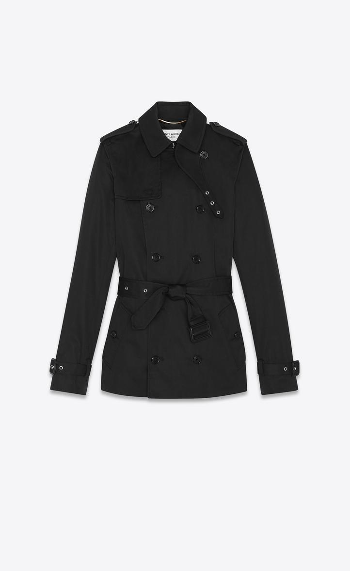 authentic quality clearance sale shopping Trench Coat In Gabardine in Black