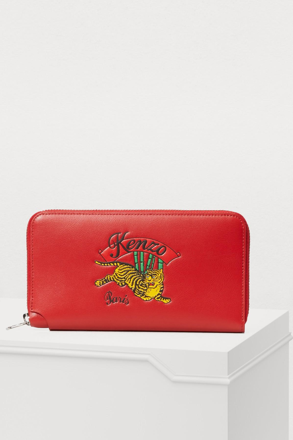 e28fab295c0 Kenzo Leather Jumping Tiger Wallet | ModeSens