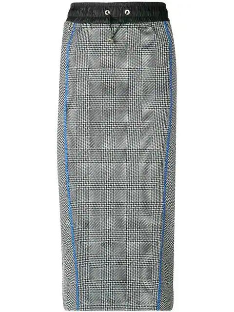 f577d2746433 Tommy Hilfiger Drawstring Houndstooth Skirt - Grey