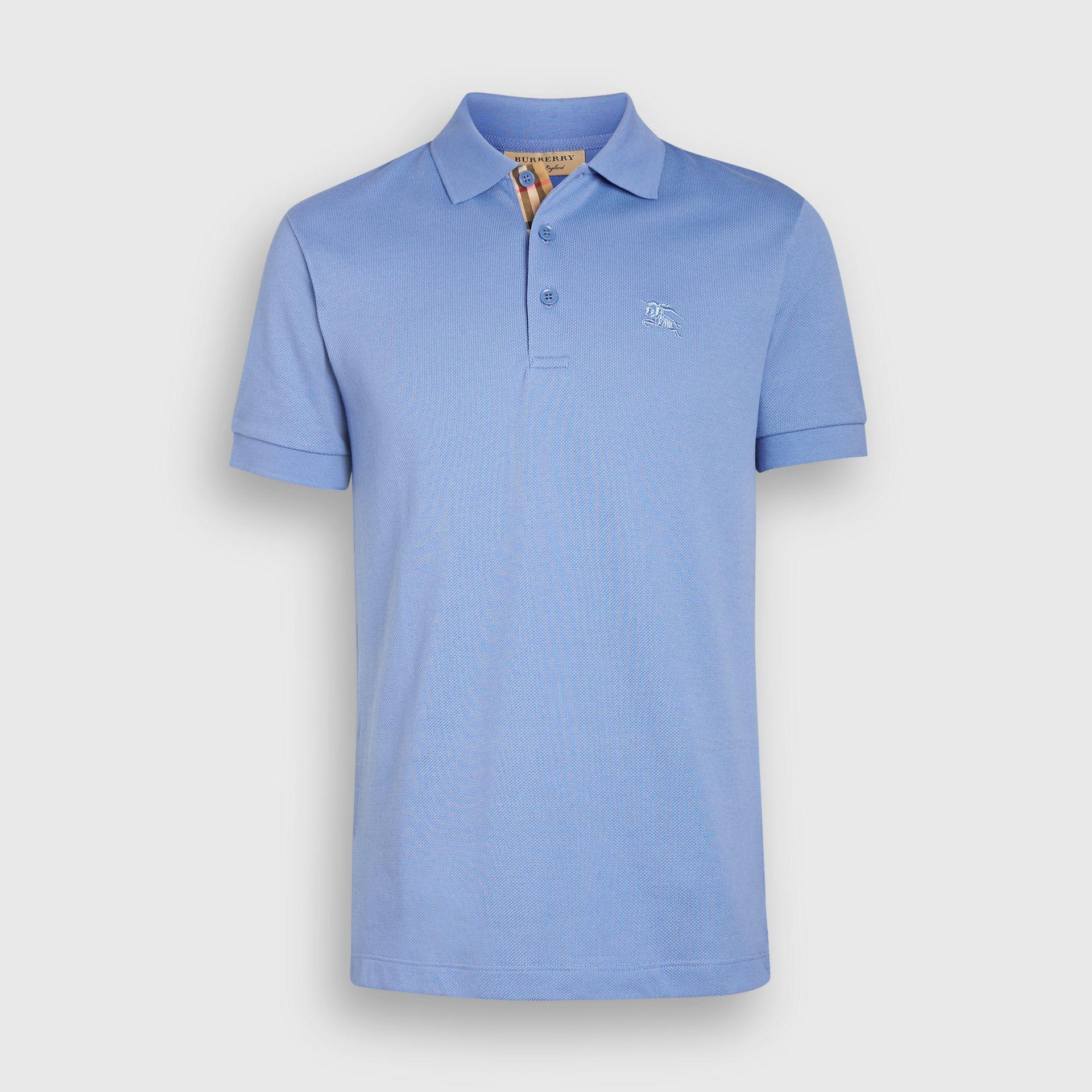 64e35be62f08 Burberry Logo-Embroidered Cotton-PiquÉ Polo Shirt In Blue