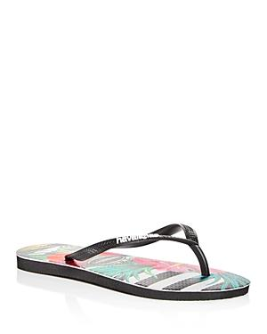 46fad82e2462 Havaianas Slim Tropical Floral Flip Flop In Black  White
