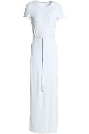 76d46e120bb James Perse Woman Cotton-Blend Jersey Maxi Dress Light Gray | ModeSens