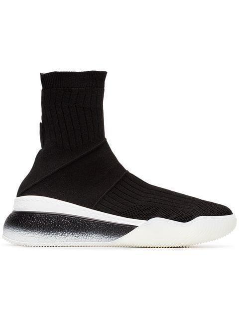 Stella Mccartney Women's Shoes High Top Trainers Sneakers  Loop In Black