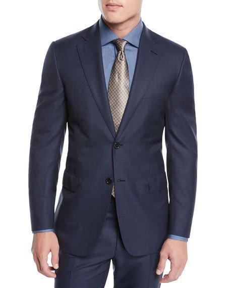 Brioni Men's Two-Piece Plaid Wool Suit In Navy