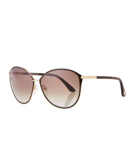 cd8b3822d0eb Tom Ford Penelope 59Mm Gradient Cat Eye Sunglasses - Shiny Rose Gold  Dark  Brown