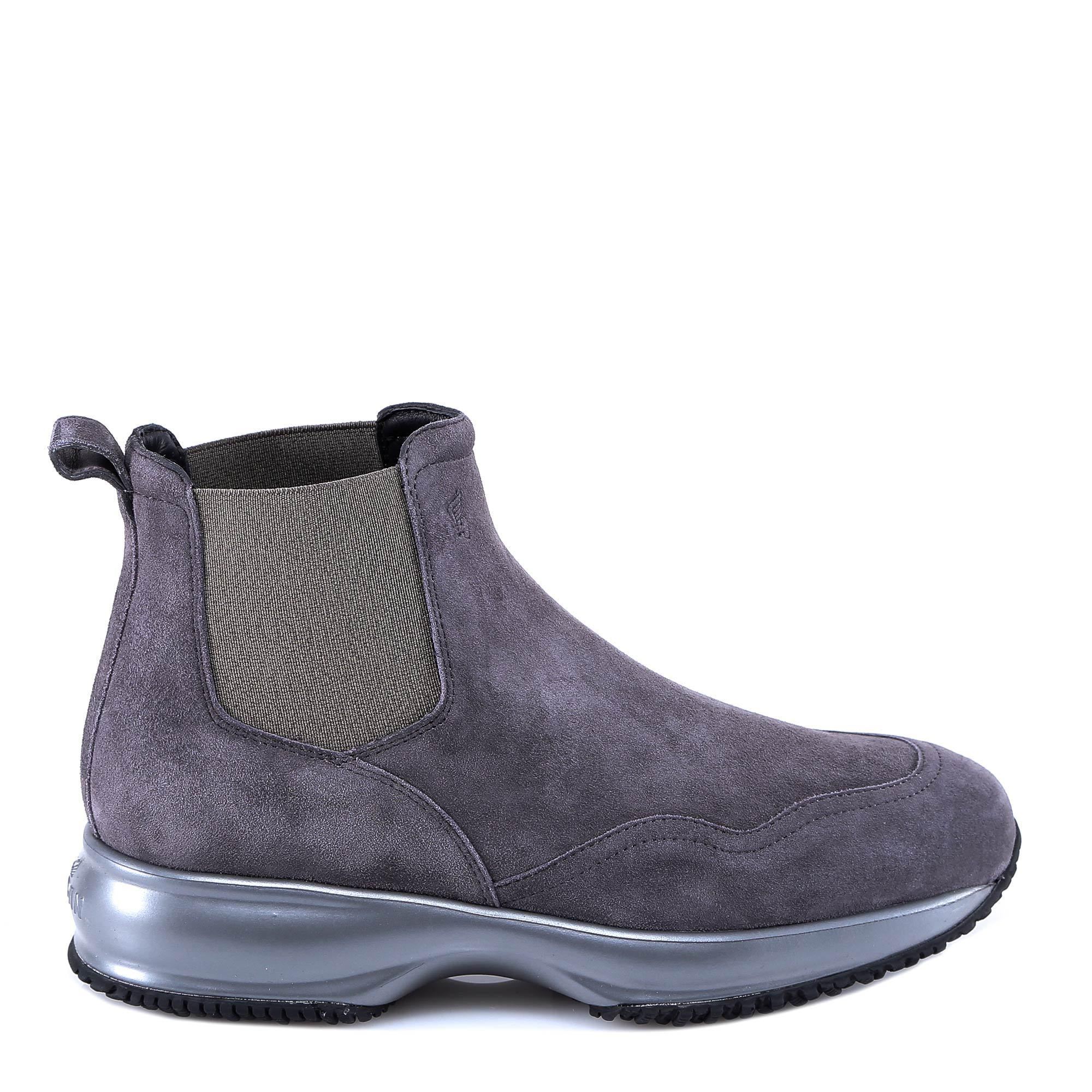 Hogan Interactive Ankle Boots In Grey | ModeSens