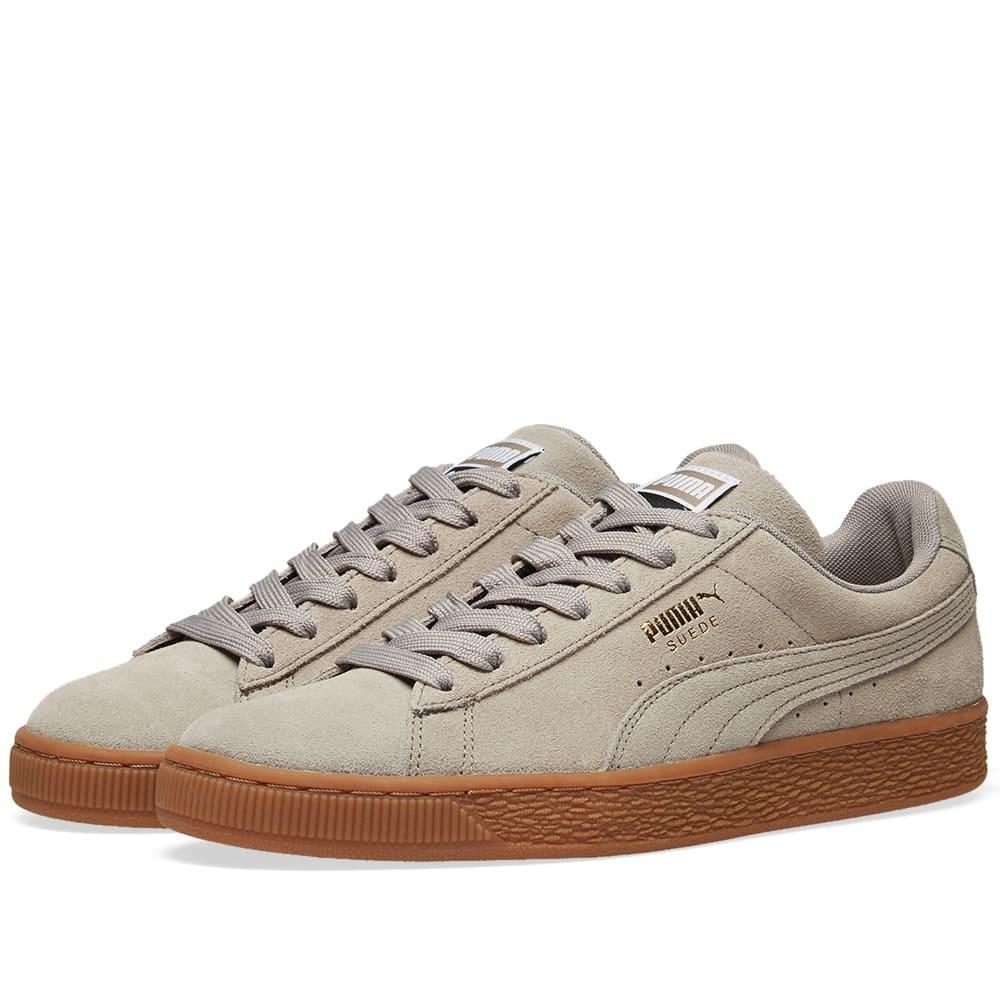 Puma Suede Classic Gum Sole In Grey | ModeSens