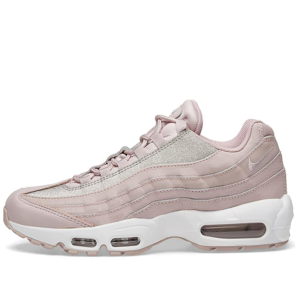 e537d9abd0 Nike Air Max 95 Glittered Leather And Suede Sneakers In Pastel Pink ... nike