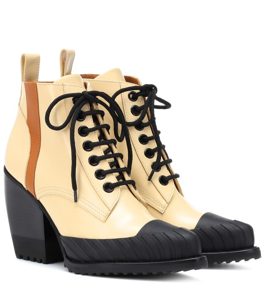 3def0aae021 Chloe Yellow Rylee Hiking Boots in Beige