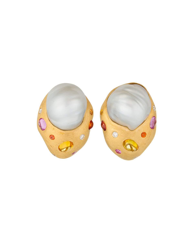 48b6d7bf2 Margot Mckinney Jewelry 18K Pink Gold Drop Earrings W/ Pearls | ModeSens