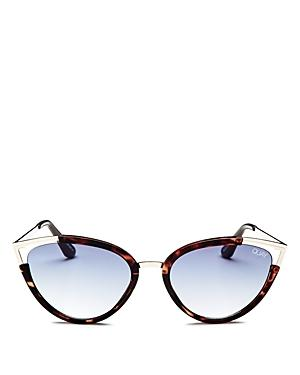 7b47f3b6cff Quay Hearsay 65Mm Cat Eye Sunglasses - Tort  Navy