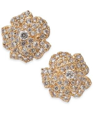 7f5212517 ... Tone Crystal Imitation Pearl Mother. Kate Spade New York Crystal Flower Stud  Earrings In Clear Rose Gold
