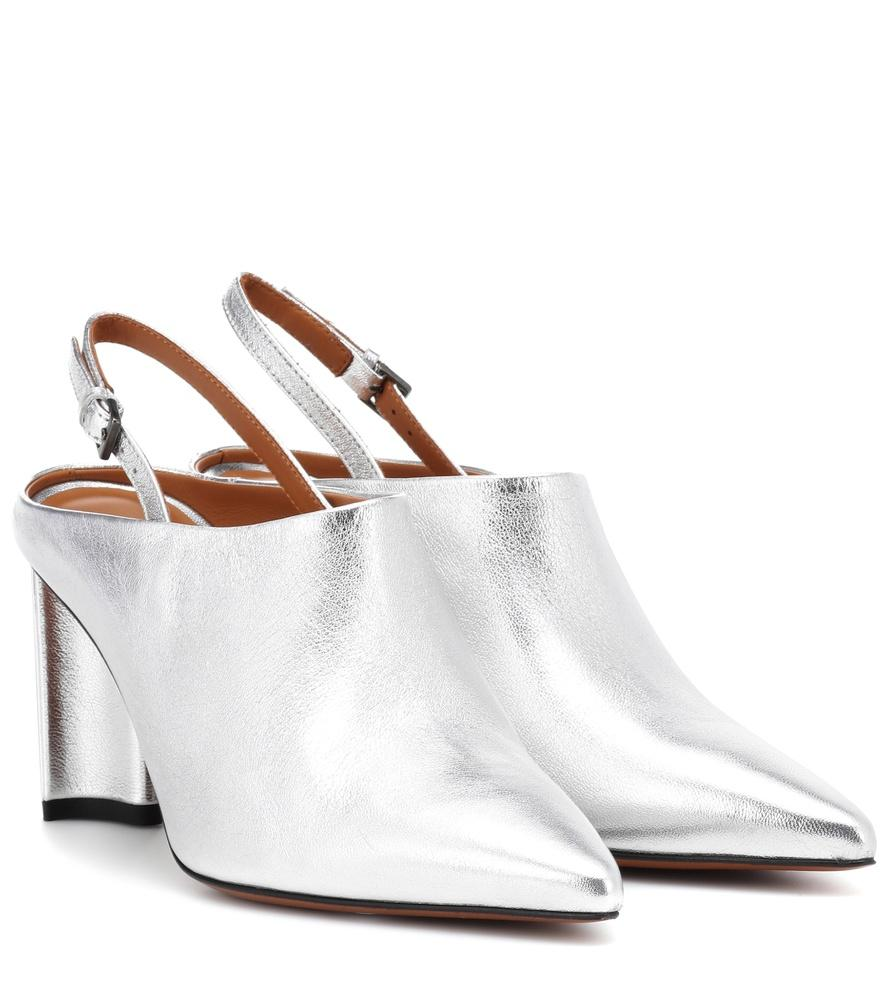5b6e61cda90 Clergerie Exclusive To Mytheresa - Kyra Leather Slingback Mules In Silver